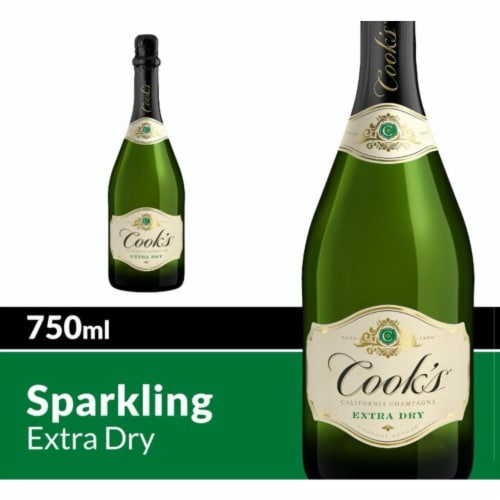 Cook's Extra Dry White Champagne Sparkling Wine Perspective: front