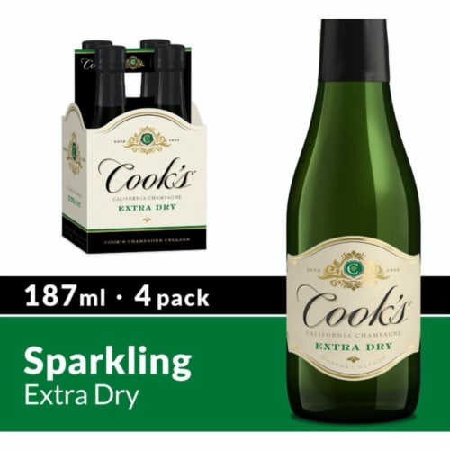 Cook's Extra Dry Sparkling California Champagne Perspective: front