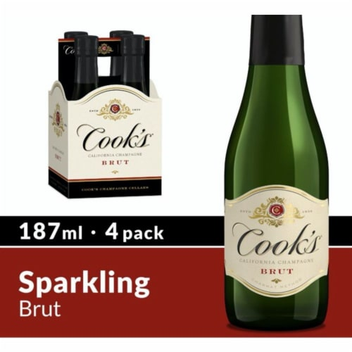 Cook's Brut California Champagne Sparkling Wine Perspective: front