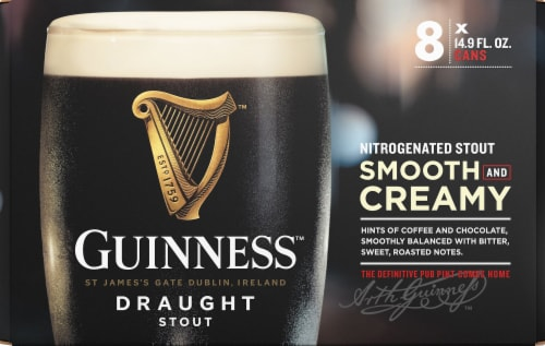 Guinness Smooth & Creamy Nitrogenated Draught Stout Perspective: front