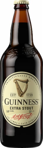 Guinness Extra Stout Bottle Perspective: front