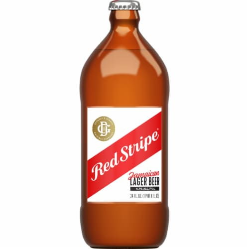Red Stripe Jamaican Lager Beer Perspective: front