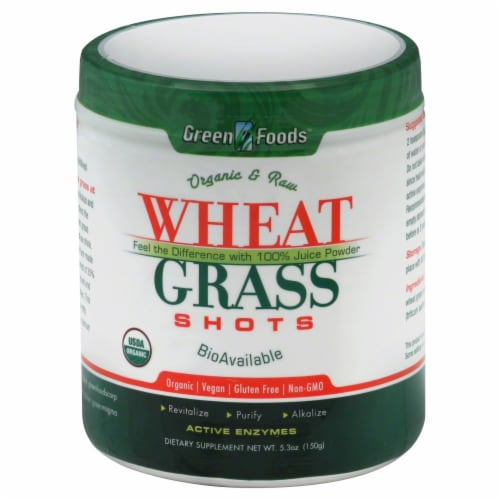 Green Foods Organic & Raw Wheat Grass Shots Perspective: front