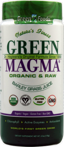 Green Foods Green Magma Grass Juice Supplement Perspective: front