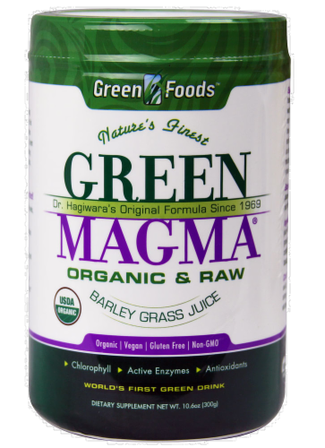 Green Foods Nature's Finest Organic & Raw Green Magma Dietary Supplement Perspective: front