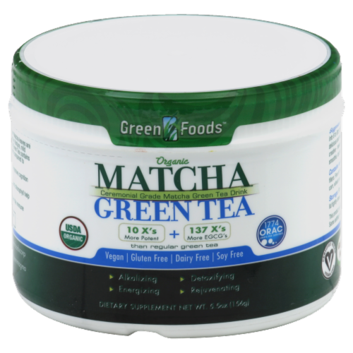 Green Food Organic Matcha Green Tea Perspective: front
