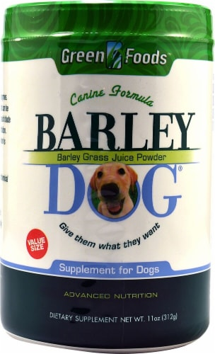Green Foods Barley Dog Dietary Supplement Perspective: front