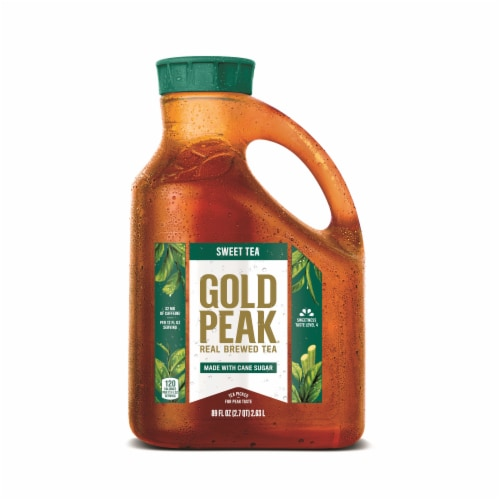 Gold Peak Sweetened Black Iced Tea Perspective: front