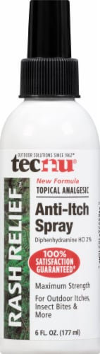 Tecnu Rash Relief Anti-Itch Spray with Scar Reduction Perspective: front