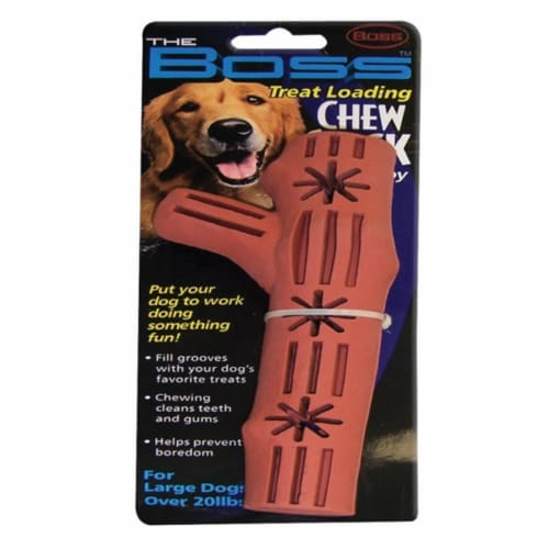 Boss Pet Brown Rubber Chew Stick Dog Toy Large 1 - Case Of: 1; Perspective: front