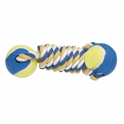 Diggers Multicolored Assorted Styles Rubber Tennis Ball Tug Toys Large - Case Of: 1; Perspective: front