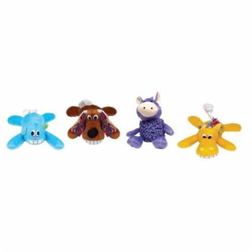 Diggers Assorted Plush Dog Toy Large 1 - Case Of: 1; Perspective: front