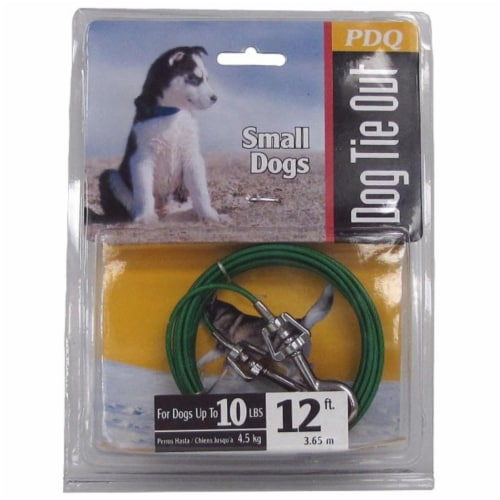 Boss Pet Small Dog Tie Out Chain Perspective: front