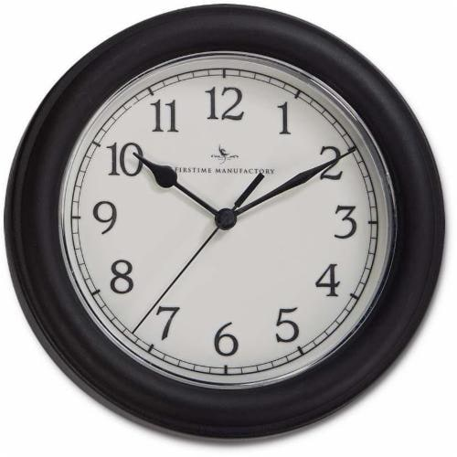 FirsTime Essential Wall Clock - Black Perspective: front