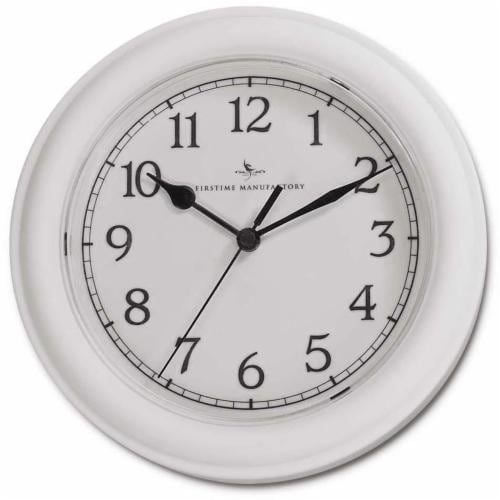 FirsTime Essential Wall Clock - White Perspective: front