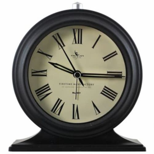 FirsTime Antolini Tabletop Clock - Black Perspective: front