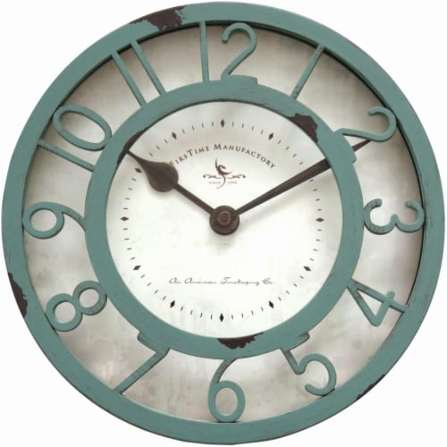 FirsTime Sage Raised Wall Clock Perspective: front