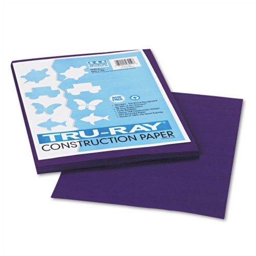 Pacon Tru-Ray Construction Paper, 76lb, 9 X 12, Purple, 50/Pack 103019 Perspective: front