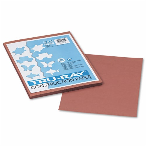 Pacon Tru-Ray Construction Paper, 76lb, 9 X 12, Warm Brown, 50/Pack 103025 Perspective: front