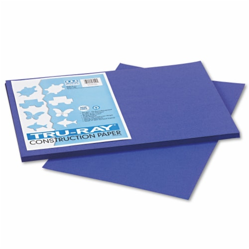 Pacon Tru-Ray Construction Paper, 76lb, 12 X 18, Royal Blue, 50/Pack 103049 Perspective: front