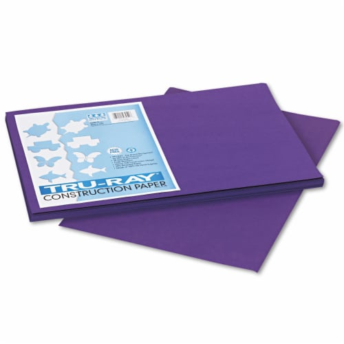 Pacon Tru-Ray Construction Paper, 76lb, 12 X 18, Purple, 50/Pack 103051 Perspective: front