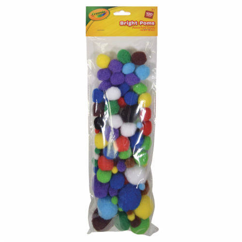 Crayola Bright Poms - Assorted Perspective: front