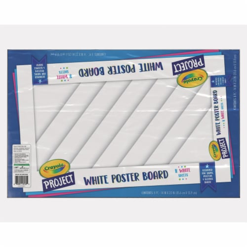 Crayola Project Poster Board - 8 Pack - White Perspective: front