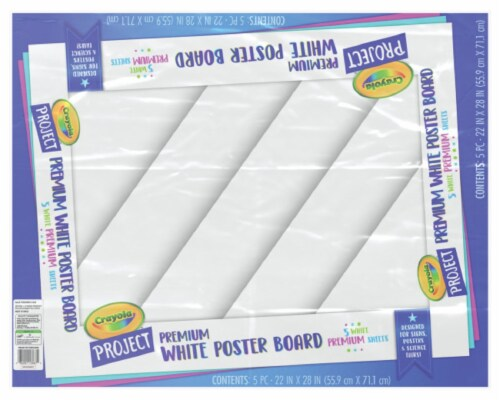 Crayola Project Premium Poster Board - 5 Pack - White Perspective: front