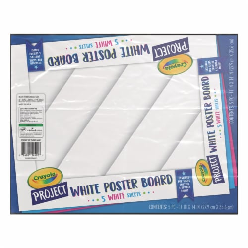Crayola Project Poster Board - 5 Pack - White Perspective: front