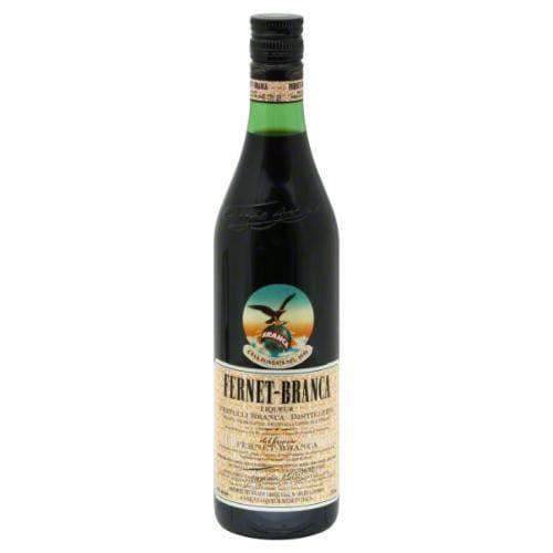 Fernet Branca Amaro Liqueur Perspective: front