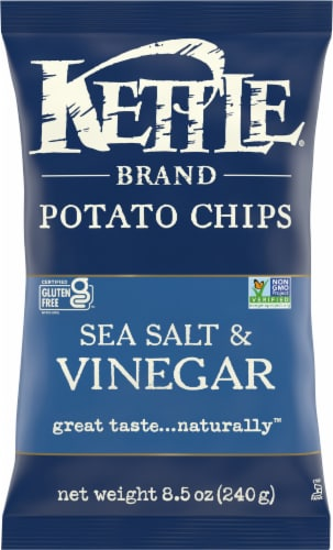 Kettle Brand Sea Salt & Vinegar Chips Perspective: front