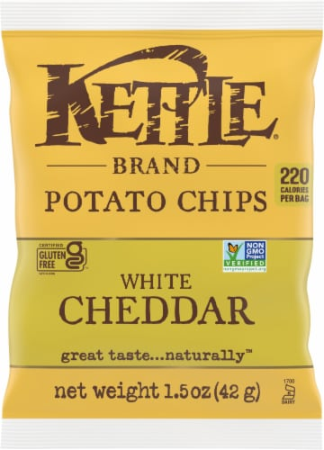 Kettle Brand New York Cheddar Potato Chips Perspective: front