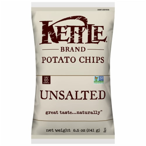 Kettle Brand Unsalted Potato Chips Perspective: front