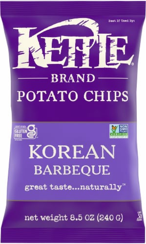 Kettle Brand Korean Barbecue Potato Chips Perspective: front