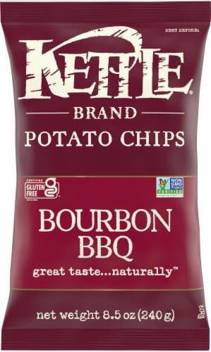 Kettle Brand Gluten Free Bourbon BBQ Potato Chips Perspective: front