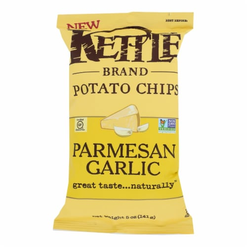 Kettle Brand - Chips Parmesan Garlic - Case of 15 - 5 OZ Perspective: front