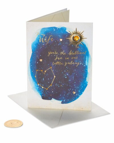 Papyrus Mother's Day Card for Wife (Our Little Galaxy) Perspective: front