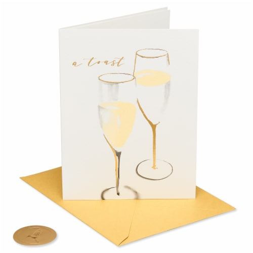 Papyrus Wedding Card for Couple (Champagne Toast) Perspective: front