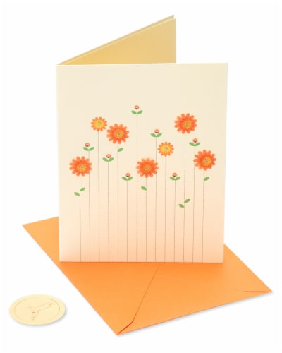 Papyrus Thinking of You Card (Flowers) Perspective: front