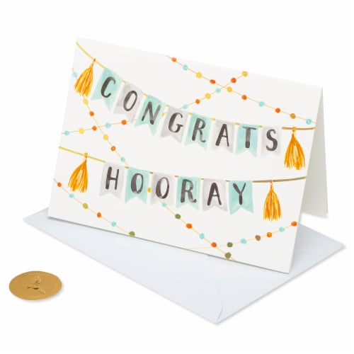 Papyrus Congratulations Card (Banner) Perspective: front