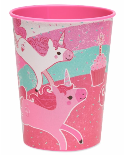 American Greetings Unicorn Plastic Party Cups Perspective: front