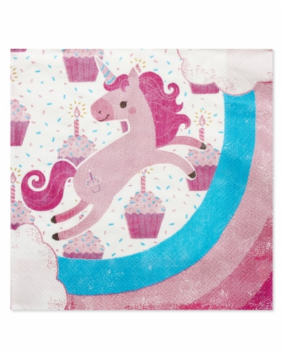 American Greetings Unicorn Paper Lunch Napkins Perspective: front