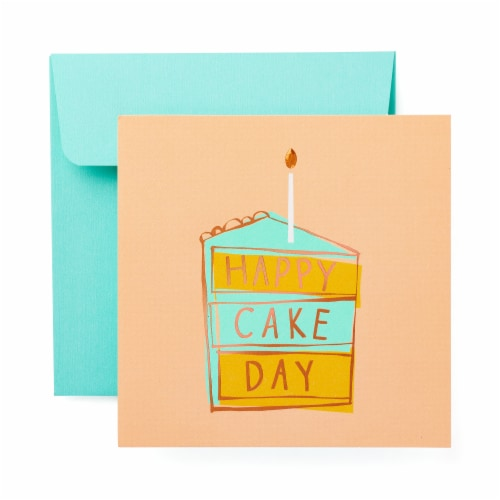 American Greetings Birthday Card (Cake Day) Perspective: front