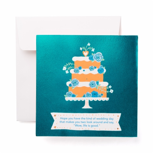 American Greetings Wedding Card (Floral Cake) Perspective: front