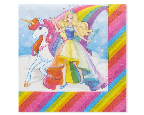 American Greetings Barbie Paper Lunch Napkins Perspective: front