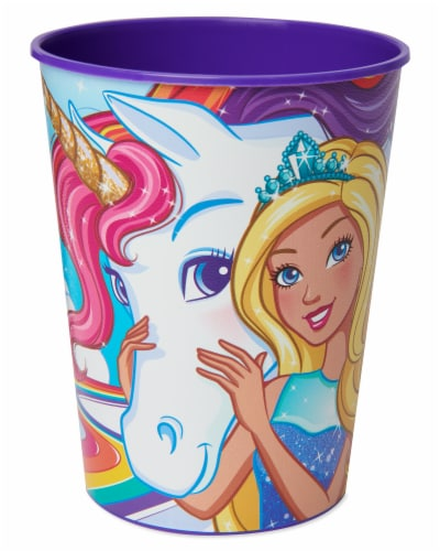 American Greetings Barbie Plastic Party Cups Perspective: front
