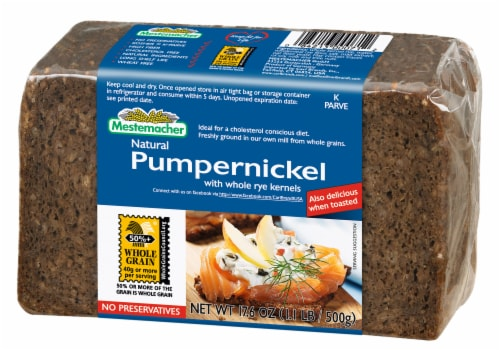 Mestemacher Natural Pumpernickel Bread Perspective: front