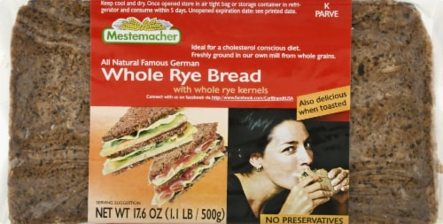 Mestemacher Whole Rye Bread Perspective: front