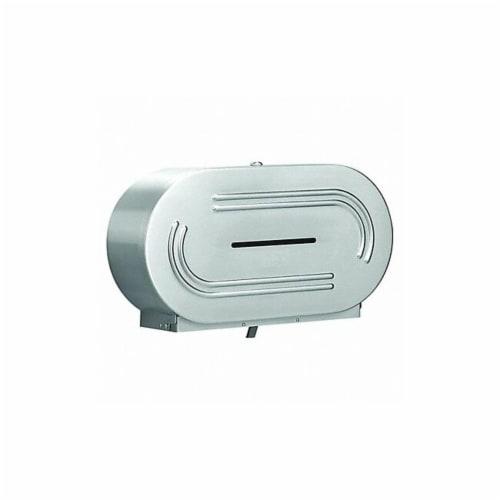 Bradley Toilet Paper Dispenser,(2) Rolls,SS  5425-000000 Perspective: front