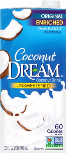 Coconut Dream Original Unsweetened Coconut Drink Perspective: front